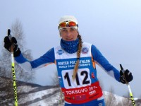 Вера Водолеева - призер общего зачета этапов Кубка мира по зимнему полиатлону