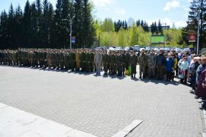 В Горно-Алтайске состоялась очередная отправка на учебные военно-полевые сборы