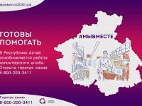 Волонтеры готовы прийти на помощь: в Республике Алтай открылся телефон горячей линии «#МыВместе»